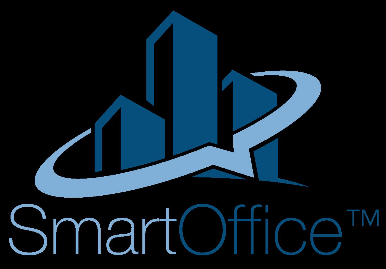A large transparent picture showing SmartOffice's logo